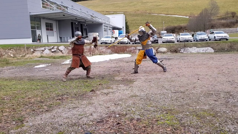 Hema Experimental Sparring in Armour. Using Spear, Arming Sword, Axe and Shield
