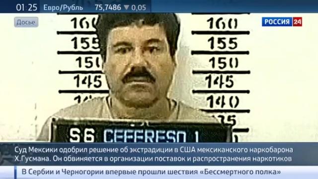 Новости на Россия 24 • Наркобарона Хоакина Гусмана экстрадируют в США