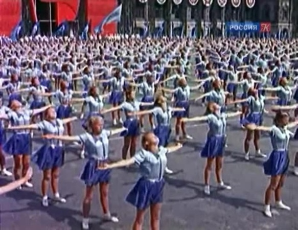 Rammstein - Stripped (Soviet Union Parade of Athletes - Парад советских атлетов 12 августа 1945) · coub, коуб