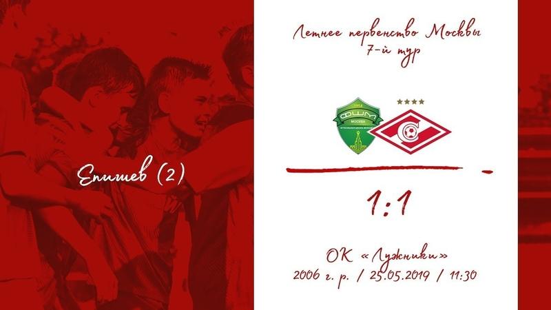 ФШМ - Спартак (2006 г. р.) 1:1