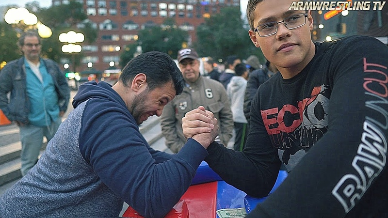 CAN YOU BEAT THIS SCHOOLBOY AT ARM WRESTLING