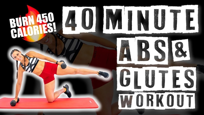 40 Minute Abs and Glutes Workout 🔥Burn 450 Calories 🔥