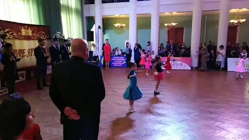 Открытый кубок области. Спортивные бальные танцы. г. Краматорск