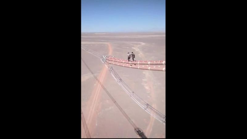 Лёгкая прогулка по высоковольтным линиям электропередач.
