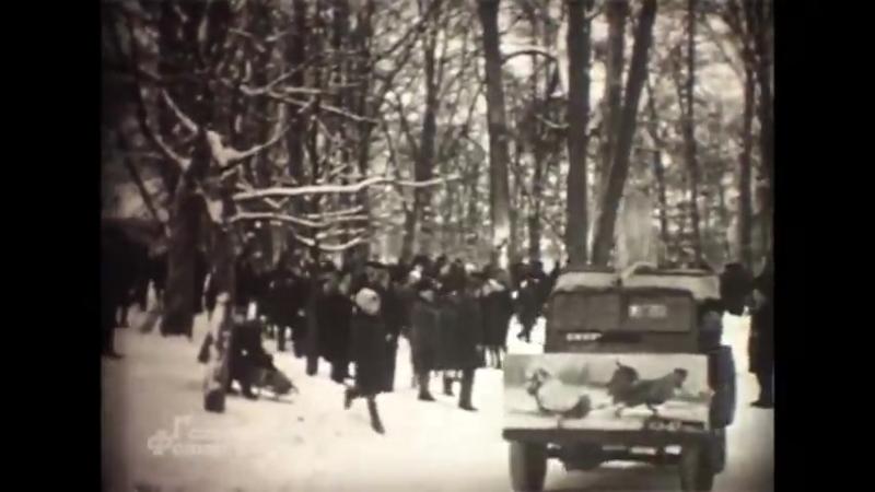 Народные зимние гуляния в Гатчинском парке 1968-69 гг