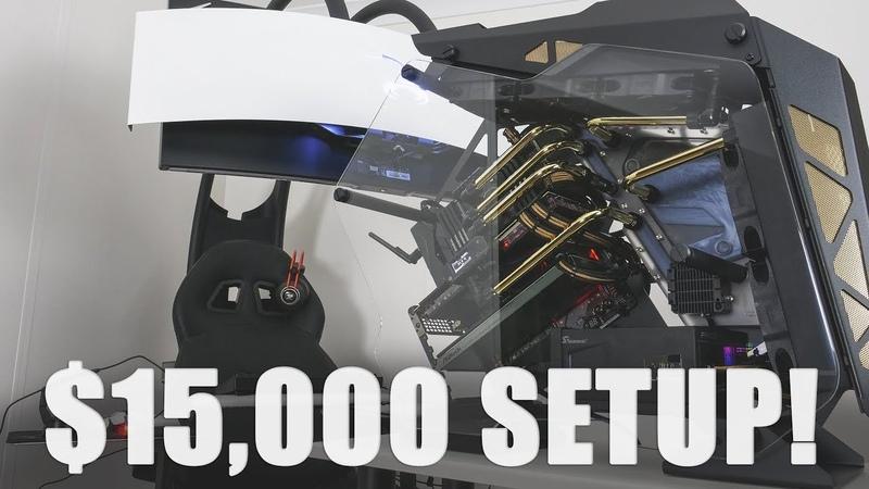 INSANE $15000 GamingWorkstation Setup. RTX 2080 Ti, 2990WX, 4TB SSD....