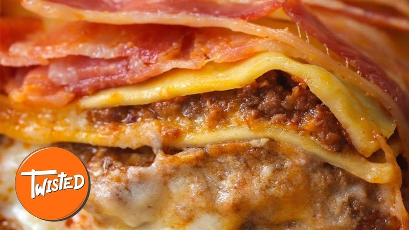 Homemade Bacon Wrapped Lasagna | Best Bacon Recipes | Homemade Lasagna | Twisted