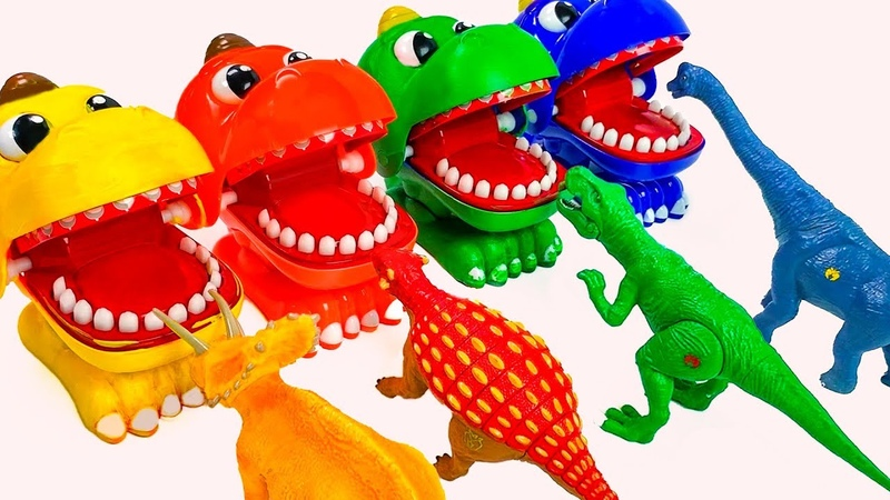 Learn Colors Names with Dinosaurs For Kids. Learning Colours with Jurassic World Toys for Children