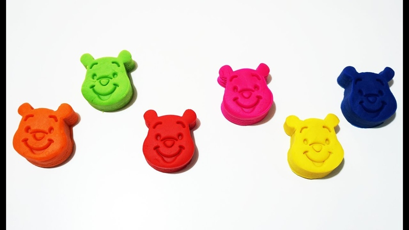 Learn Colors with 6 Color Play Doh and Farm Animals Molds