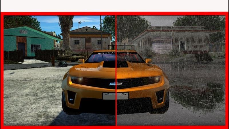 ГРАФИКА GTA SAN ANDREAS ОБОШЛА GTA 5 - SA_DIRECTX 2.0