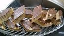 Сербский вафельный торт со сливочным кремом измельченным кексом и орехами шоколадной глазурью Brza oblanda za 15 min