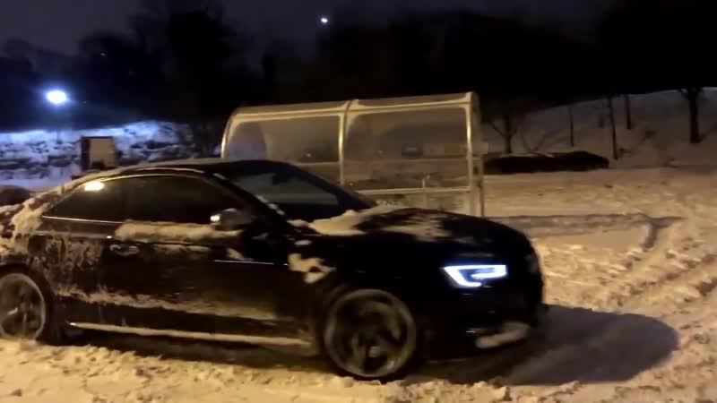 Зимняя забава с зверем 450HP - Audi S5 4.2 V8 Quattro