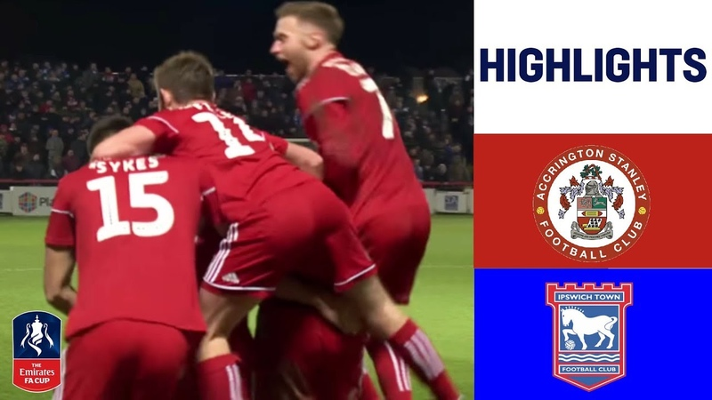 Accrington Stanley 1 0 Ipswich Town Kee Scores Late to Upset Ipswich Emirates FA Cup 18 19