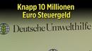 Umstrittene Deutsche Umwelthilfe erhält knapp 10 Millionen Euro Steuergeld