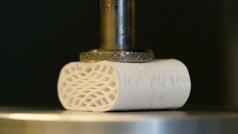 3D printed synthetic bone is elastic and can replace any damaged bone in the body