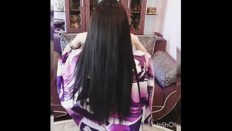 Коррекция волос 190 прядей 60 см