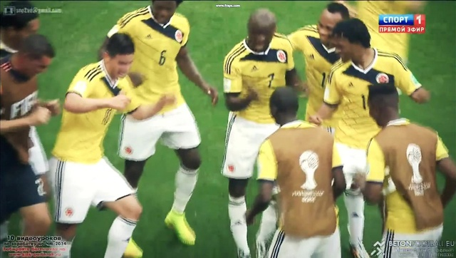 Colombia with dance Colombia 2 1 Cote d'Ivoire worldcup2014
