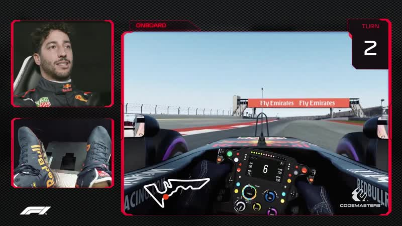 Daniel Ricciardo's Virtual Hot Lap of COTA | US Grand Prix