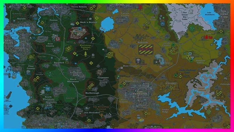 Most Incredible ULTIMATE GTA USA World Map With Over 100 Cities, Islands MORE! (GTA 5)
