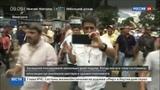Новости на Россия 24 Беспорядки в Венесуэле горящие машины, разбитые витрины, баррикады и дымовые шашки