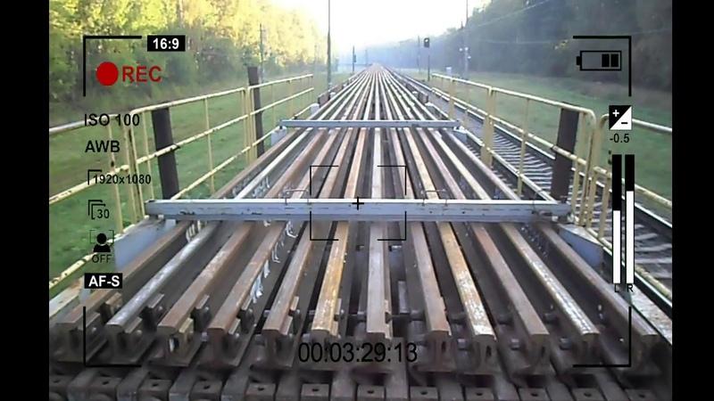 Капитальный ремонт ж.д. вокзала - Выгрузка 800 метровых рельсовых плетей