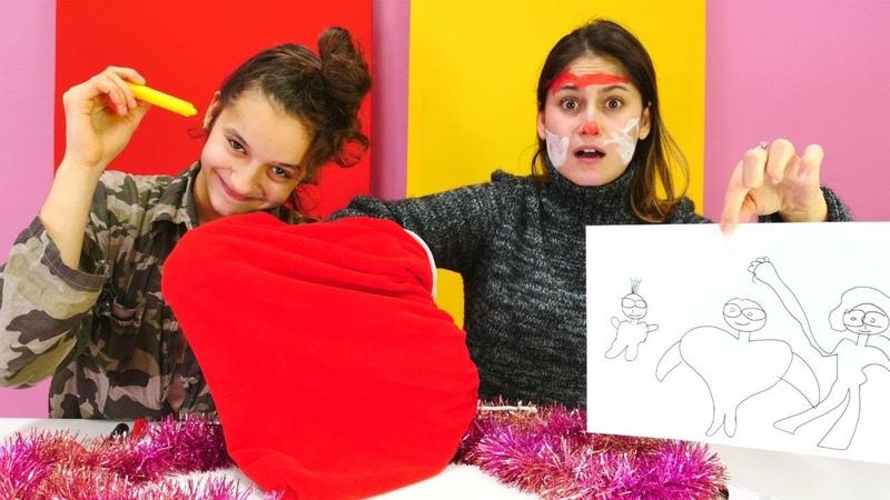 Yeni Challenge video! Ayşe ile kağıtta yazanları yap oyunu!
