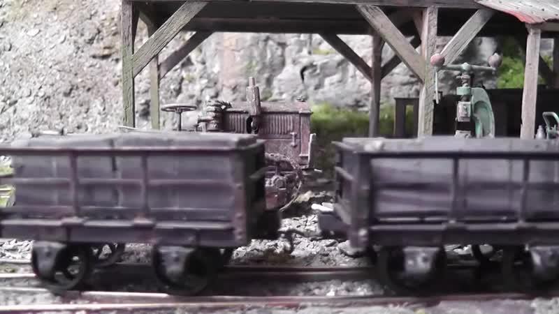 Действующая диорама в 43 масштабе. Работа локомотивов.