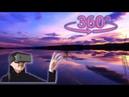 Панорамное Видео 360 VR 4K для очков виртуальной реальности. Вечерняя прогулка. Озеро. Релакс