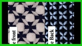 Pom pom blanket. EASY Celtic cross with pom poms. Reversible.