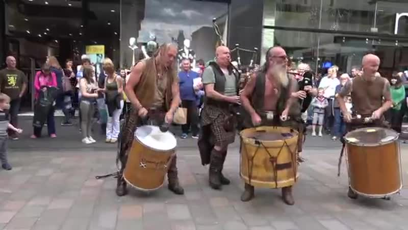 Clanadonia perform Last of the Mohicans in Perth City centre during Medieval Fay