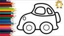 Раскраска для детей МАШИНКИ. Мультик - Раскраска. Учим цвета.