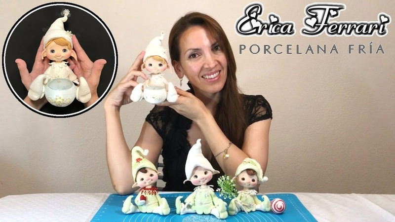 🐶 Erica Ferrari Porcelana Fría | Duende Luminaria | Clase Gratis | DIY | Tutorial Fácil