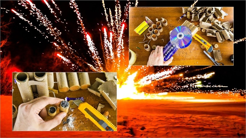 Эксперимент с ФЕЙЕРВЕРКОМ, БЕНЗИНОМ и ПЕТАРДОЙ! Мощный и красивый взрыв! ЧТО ВНУТРИ ФЕЙЕРВЕРКА...