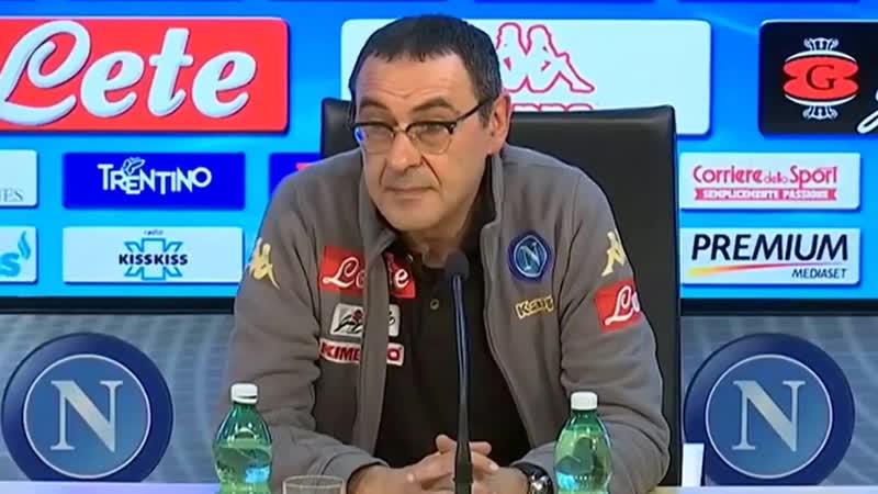 Maurizio Sarri en 2017 Jai vu quun journal parlait de moi à la Juventus, jai dejà contacté mon avocat pour savoir sil est possib