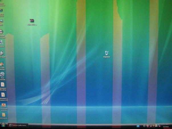 Горизонтальные полосы на мониторе компьютера