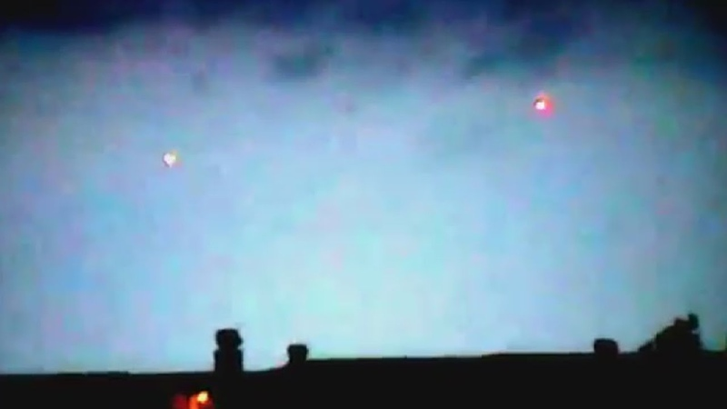 UFO Sighting with Red Lights above Houses in London England FindingUFO