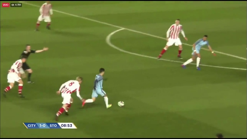 Brahim Diaz Amazing solo goal Manchester City U17 vs Stoke City