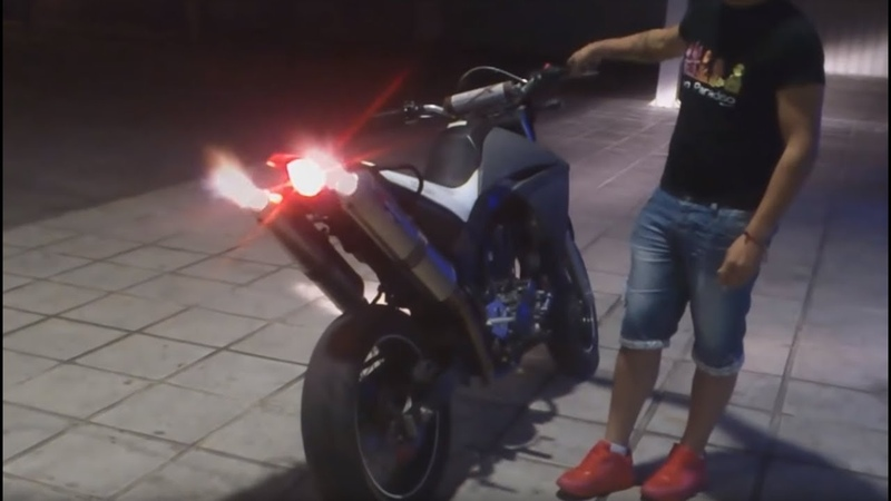 Yamaha XT660X Exhaust Sound Compilation - Brutal Backfire