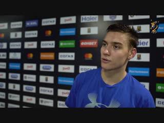 Степан Старков - об игре против СКА и своей шайбе