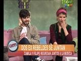 Felipe y Camila hablan de su banda