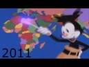Yakko s World but each time the US invaded or coup d the country it gets louder more distorted