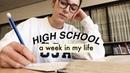 High School Week in My Life applying to uni, gym and school