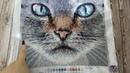 Вишивка бісером . Tela Artis кіт Мист (Mist) . Звіт 11 .