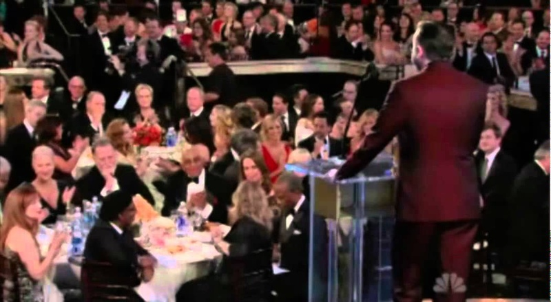 All parts of Ricky Gervais at the Golden Globe 2012