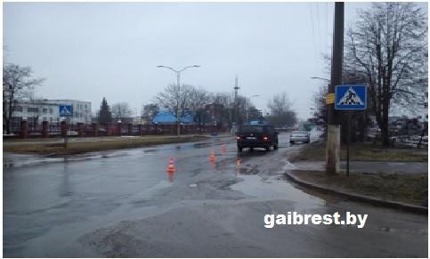 г.Барановичи: в ДТП на переходе пострадал пешеход