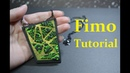 Pendant with pearlex polymer clay tutorial Anhänger aus Fimo mit PearlEx полимерная глина мк DIY