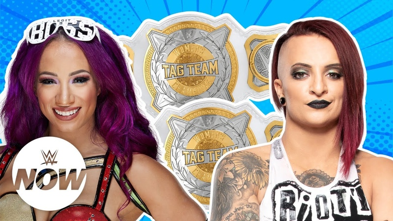 Video@rubyriottdaily | Superstars make bold claims for new Womens Tag Titles WWE Now
