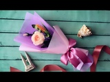 ABC TV How To Make Flower Bouquet With Single Rose #3 - Craft Tutorial