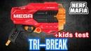 Нерф Три брейк обзор бластера фаер тест и кидс тест Nerf tri breake revew fire test kids test