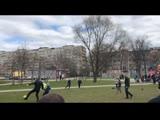 Беглов и Малафеев поиграли в Купчино в футбол с детьми